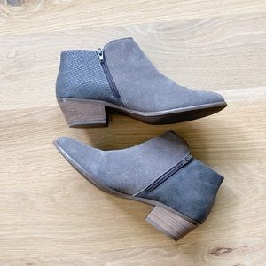 G.H. BASS CO Nina grey snake skin ankle booties
